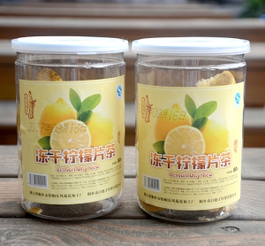 Canned freeze-dried lemon slices